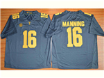 Tennessee Volunteers #16 Peyton Manning Grey College Football Jersey