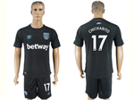 West Ham United 2017/18 Away Black Soccer Jersey with #17 Chicharito Printing