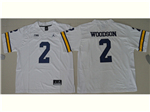 Michigan Wolverines #2 Charles Woodson White College Football Jersey