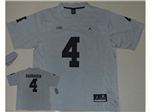 Michigan Wolverines #4 Jim Harbaugh Grey Gridiron II College Football Jersey