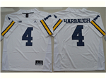 Michigan Wolverines #4 Jim Harbaugh White College Football Jersey