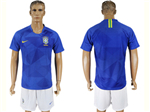 Brazil 2018 World Cup Away Blue Soccer Jersey