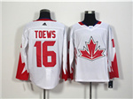 Team Canada 2016 World Cup #16 Jonathan Toews White Jersey