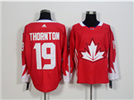 Team Canada 2016 World Cup #19 Joe Thornton Red Jersey
