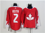 Team Canada 2016 World Cup #2 Duncan Keith Red Jersey
