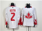 Team Canada 2016 World Cup #2 Duncan Keith White Jersey
