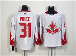 Team Canada 2016 World Cup #31 Carey Price White Jersey