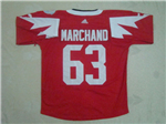 Team Canada 2016 World Cup #63 Brad Marchand Red Jersey