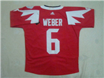 Team Canada 2016 World Cup #6 Shea Weber Red Jersey