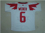 Team Canada 2016 World Cup #6 Shea Weber White Jersey
