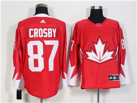 Team Canada 2016 World Cup #87 Sidney Crosby Red Jersey