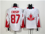 Team Canada 2016 World Cup #87 Sidney Crosby White Jersey