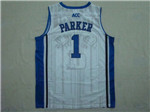 NCAA Duke Blue Devils #1 Jabari Parker White College Basketball Jersey