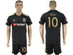 Los Angeles FC 2018 Home Black Soccer Jersey with #10 Vela Printing