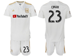 Los Angeles FC 2018 Away White Soccer Jersey with #23 Ciman Printing