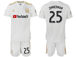 Los Angeles FC 2018 Away White Soccer Jersey with #25 Zimmerman Printing