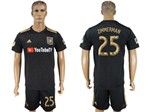 Los Angeles FC 2018 Home Black Soccer Jersey with #25 Zimmerman Printing