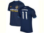 Los Angeles Galaxy 2017/18 Away Navy Blue Soccer Jersey with #11 Kamara Printing