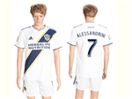 Los Angeles Galaxy 2018 Home White Soccer Jersey with #7 Alessandrini Printing