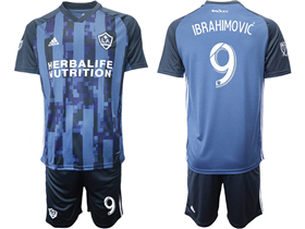 Los Angeles Galaxy 2019/20 Away Navy Blue Soccer Jersey with #9 Ibrahimović Printing