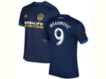 Los Angeles Galaxy 2017/18 Away Navy Blue Soccer Jersey with #9 Ibrahimović Printing