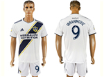 Los Angeles Galaxy 2018 Home White Soccer Jersey with #9 Ibrahimović Printing