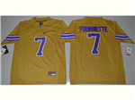 LSU Tigers #7 Leonard Fournette Gold College Football Jersey