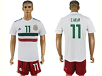 Mexico 2018 World Cup Away White Soccer Jersey with #11 C.Vela Printing