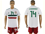 Mexico 2018 World Cup Away White Soccer Jersey with #14 J.Hernández Printing