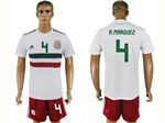 Mexico 2018 World Cup Away White Soccer Jersey with #4 R.Márquez Printing