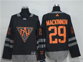 Team North America 2016 World Cup #29 Nathan MacKinnon Black Jersey