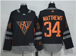 Team North America 2016 World Cup #34 Auston Matthews Black Jersey