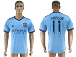 New York City FC 2017/18 Home Light Blue Jersey with #11 Harrison Printing