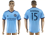 New York City FC 2017/18 Home Light Blue Jersey with #15 McNamara Printing