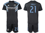 New York City FC 2018/19 Away Navy Blue Jersey with #21 Pirlo Printing