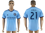 New York City FC 2017/18 Home Light Blue Jersey with #21 Pirlo Printing