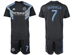 New York City FC 2018/19 Away Navy Blue Jersey with #7 David Villa Printing
