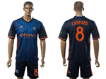 New York City FC 2016/17 Away Navy Blue Jersey with #8 Lampard Printing