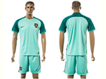 Portugal 2016/17 Away Green Soccer Jersey