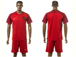 Portugal 2016/17 Home Red Soccer Jersey