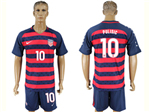 USA 2017 Gold Cup Soccer Jersey with #10 Pulisic Printing