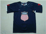 Team USA 2014 Sochi Winter Olympic Navy Blue Jersey