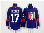 Team USA 2016 World Cup #17 Ryan Kesler Navy Blue Jersey