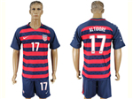 USA 2017 Gold Cup Soccer Jersey with #17 Altidore Printing