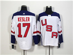 Team USA 2016 World Cup #17 Ryan Kesler White Jersey