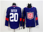 Team USA 2016 World Cup #20 Ryan Suter Navy Blue Jersey