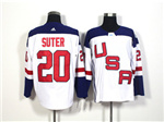 Team USA 2016 World Cup #20 Ryan Suter White Jersey