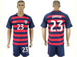 USA 2017 Gold Cup Soccer Jersey with #23 Johnson Printing