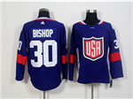 Team USA 2016 World Cup #30 Ben Bishop Navy Blue Jersey