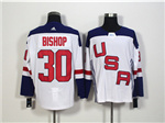 Team USA 2016 World Cup #30 Ben Bishop White Jersey